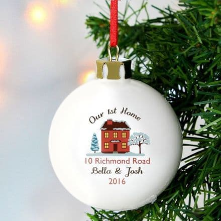 Home Christmas Tree Bauble - New Home Tree Decoration